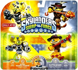 Skylanders SWAP FORCE Exclusive Swappable Figure 2-Pack Nitro Magna Charge & Rattle Shake