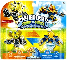 Skylanders SWAP FORCE Exclusive Swappable Figure 2-Pack Nitro Magna Charge & Free Ranger