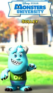 Monsters University Hot Toys 3 Inch Mini Cosbaby Figure Sulley Pre-Order ships September