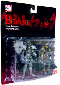 Berserk Exclusive Action Figure 2-Pack Black Swordsman & Knight of Skeleton