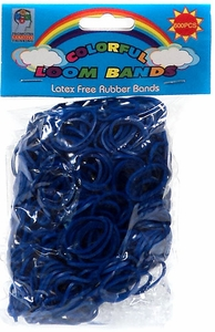 Colorful Loom Bands 600 NAVY BLUE Rubber Bands with 'S' Clips