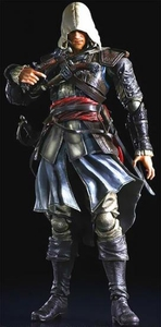 Assassin's Creed IV Play Arts Kai Exclusive Action Figure Edward Kenway Pre-Order ships August