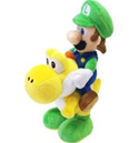 Super Mario Brothers 8 Inch Plush Luigi Riding Yellow Yoshi
