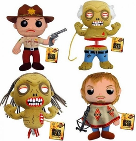 Funko POP! Walking Dead Set of All 4 Plush Figures