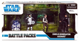Star Wars Saga 2008 Legacy Collection Exclusive Action Figure Battle Pack Assault on the Shield Generator
