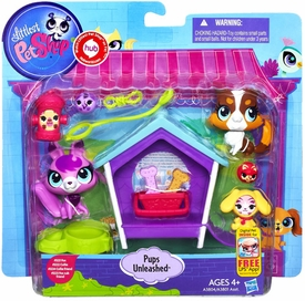 Littlest Pet Shop Playset Pups Unleashed