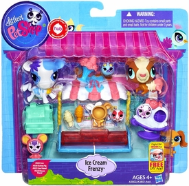 Littlest Pet Shop Playset Ice Cream Frenzy