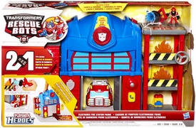Transformers Rescue Bots Electronic Playset Fire Station Prime