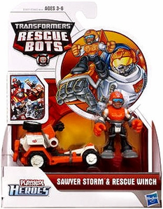 Transformers Rescue Bots Playskool Heroes Action Figure Set Sawyer Storm & Rescue Winch