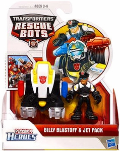 Transformers Rescue Bots Playskool Heroes Action Figure Set Billy Blastoff & Jet Pack