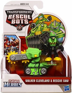 Transformers Rescue Bots Playskool Heroes Action Figure Set Walker Cleveland & Rescue Saw