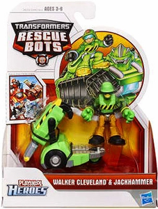 Transformers Rescue Bots Playskool Heroes Action Figure Set Walker Cleveland & Jackhammer
