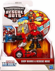 Transformers Rescue Bots Playskool Heroes Action Figure Set Cody Burns & Rescue Hose