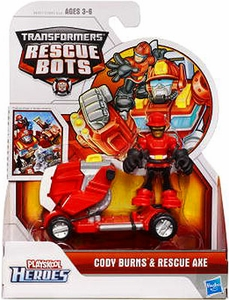 Transformers Rescue Bots Playskool Heroes Action Figure Set Cody Burns & Rescue Axe