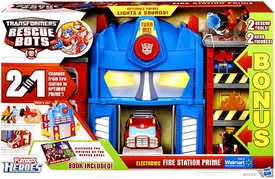 Transformers Rescue Bots Exclusive Bonus Electronic Playset Fire Station Prime [2 Rescue Tools & 2 Hero Figures!]