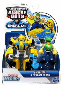 Transformers Rescue Bots Energize Action Figure Bumblebee & Graham Burns