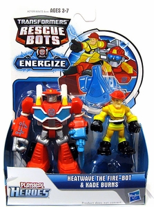Transformers Rescue Bots Energize Action Figure Heatwave & Kade Burns