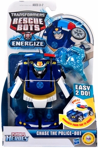 Transformers Rescue Bots Energize Playskool Heroes Action Figure Chase The Police-Bot