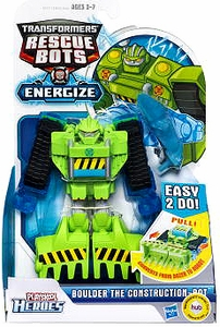 Transformers Rescue Bots Energize Playskool Heroes Action Figure Boulder the Construction-Bot