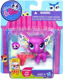 Littlest Pet Shop Figure 2-Pack Elephant & Elephant Friend