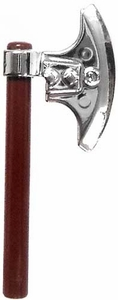 LEGO LOOSE Weapon Silver Chrome 2-Piece Hand Axe