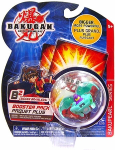 Bakugan B2 Bigger Brawlers Bakupearl Booster Pack Zephyroz [Green] [1 Random Figure & 2 Cards!]