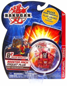 Bakugan B2 Bigger Brawlers Bakupearl Booster Pack Nova 12 Pyrus [Red] [1 Random Figure & 2 Cards!]