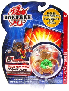 Bakugan B2 Bigger Brawlers Bakupearl Booster Pack Sub Terra [Brown] [1 Random Figure & 2 Cards!]