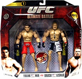 UFC Jakks Pacific Series 1 Deluxe Action Figure 2-Pack Brock Lesnar vs. Frank Mir [UFC 81]