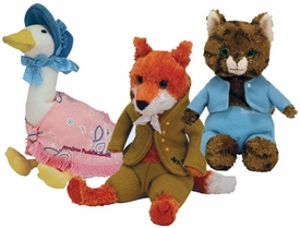 Ty Beatrix Potter Collection UK Exclusive Set of 3 Beanie Babies (Jemima Puddle, Mr. Tod & Tom Kitten)