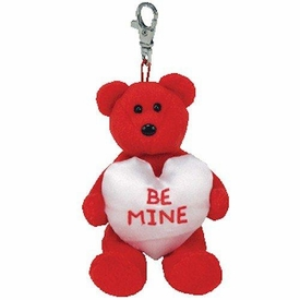 Ty Beanie Baby Valenteenies Keychain Will You Be Mine?