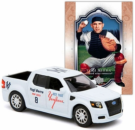 New York Yankees Upper Hall of Fame Series Diecast NY Yankees Ford Truck with Yogi Berra Card