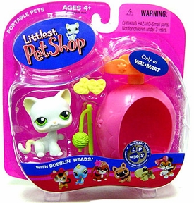 Littlest Pet Shop Pets On the Go Exclusive Figure White Cat with Ball of Yarn