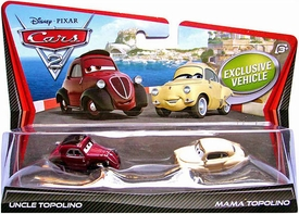 Disney / Pixar CARS 2 Movie 1:55 Die Cast Car 2-Pack Uncle Topolino & Mama Topolino