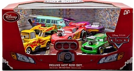 Disney / Pixar CARS Movie Exclusive 1:48 Die Cast Car 5-Pack Deluxe Hot Rod Set [McQueen, Mater, Ramone, Fillmore & Chick Hicks]