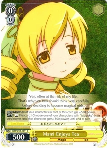 Weiss Schwarz ENGLISH Madoka Magica Single Card Common E011  Mami Enjoys Tea