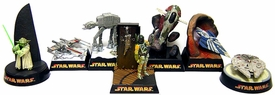 Star Wars Tomy Set of all 7 Diorama PVC Japanese Figures