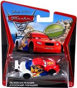 Disney / Pixar CARS 2 Movie 1:55 Die Cast Car Vitaly Petrov {Russia} Super Chase Piece!