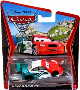 Disney / Pixar CARS 2 Movie 1:55 Die Cast Car Memo Rojas Jr. {Mexico} Super Chase Piece!