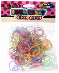 Loom Bands 200 Scented Rainbow Refill Loom Bands with Clips