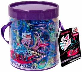 Expressions D.I.Y. 1200 Rainbow Glitter Latex-Free Rubber Band Bracelet Refill Loom Pack