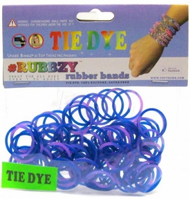 Undee Bandz Rubbzy 100 Navy Blue & Purple Tie-Dye Rubber Bands with Clips
