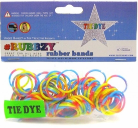 Undee Bandz Rubbzy 100 Blue, Red & Yellow Tie-Dye Rubber Bands with Clips BLOWOUT SALE!