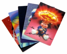 Topps Garbage Pail Kids Flashback Series 2 Set of all 5 3D Cards
