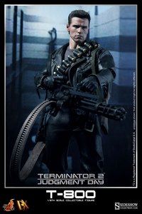 Hot Toys Terminator 2 Movie Masterpiece DX10 1/6 Scale Action Figure T-800 [Arnold Schwarzenegger]
