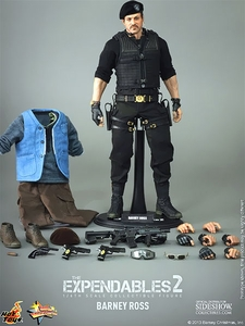 Expendables 2 Hot Toys Movie Masterpiece 1/6 Scale Collectible Figure Barney Ross [Sylvester Stallone]