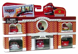 Disney CARS Mini Adventures 6-Pack Gift Set Radiator Springs Fire Department [Flo, Lizzie, The King, Doc Hudson, Red & Mater]