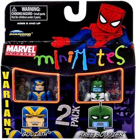 Marvel MiniMates Series 32 Mini Figure 2-Pack Goliath & Kree Soldier [Variant]