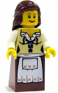LEGO Castle LOOSE Complete Human Mini Figure Maid