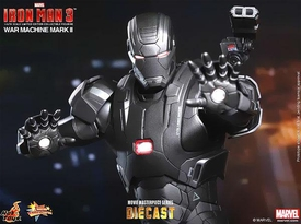 Iron Man 3 Hot Toys 1/6 Scale Collectible Diecast Figure War Machine New!